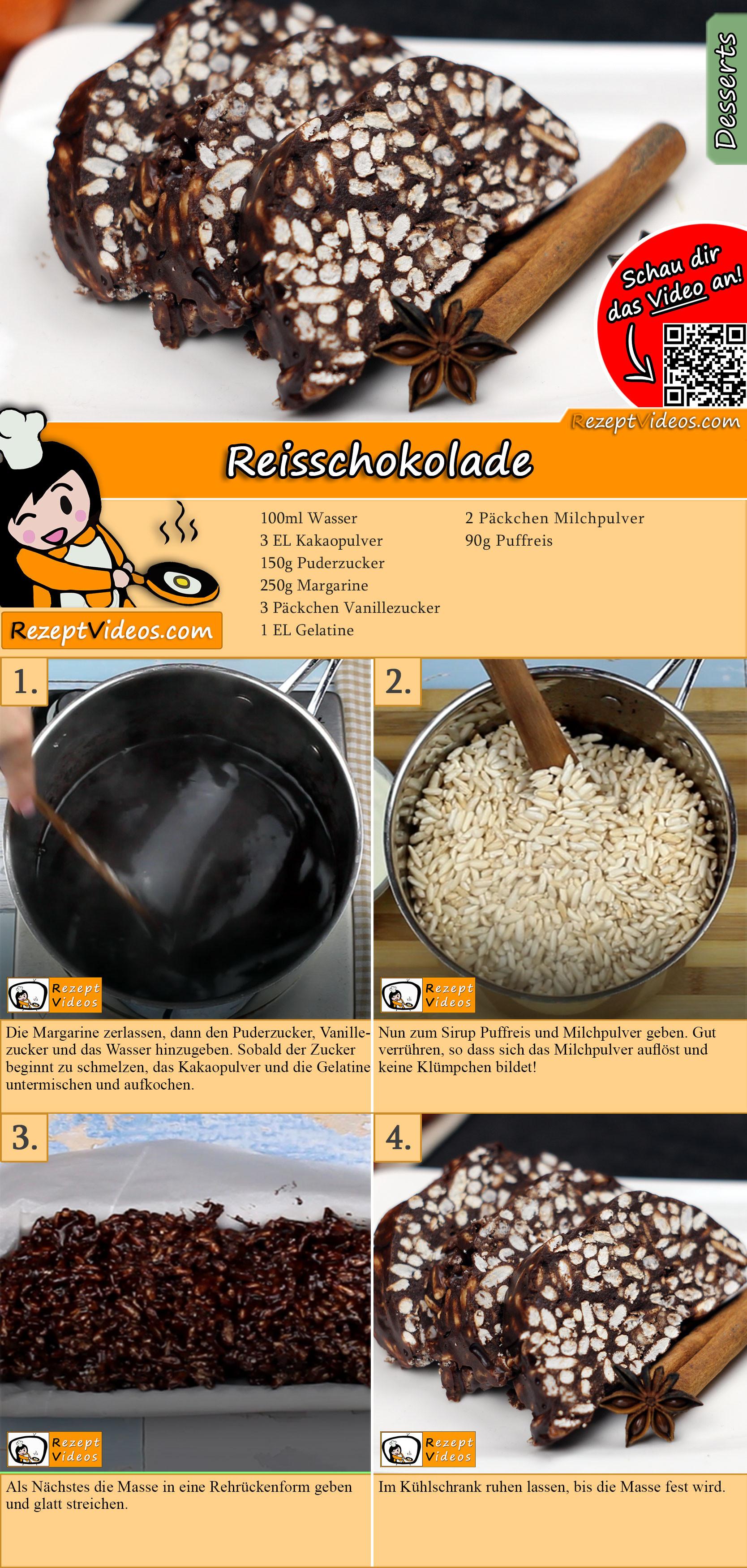 Reisschokolade Rezept mit Video