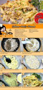 Sahne-Mais-Penne Rezept mit Video