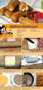 Schinken-Käsestangen Rezept mit Video