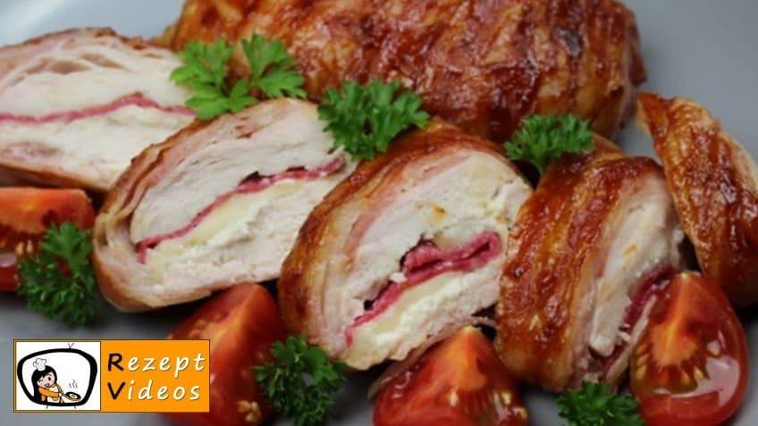 Bacon gefüllte Hähnchenbrust mit Barbecuesauce