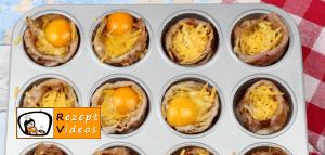 Eiermuffins mit Käse und Bacon Rezept - Zubereitung Schritt 5