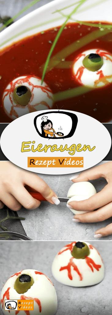 Eieraugen, REzept Videos, Halloween, Halloween Rezepte, Rezeptideen, einfache Gerichte einfache Rezepte, schnelle Rezepte,