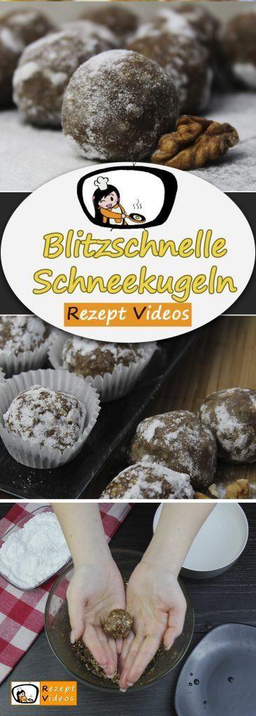 Blitzschnelle Schneekugeln (ohne Backen), Rezept Videos, einfache Rezepte, schnelle Rezepte, einfache Gerichte, Kekse, Keks Rezepte,