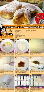 Buchteln mit Marmeladenfüllung Rezept mit Video