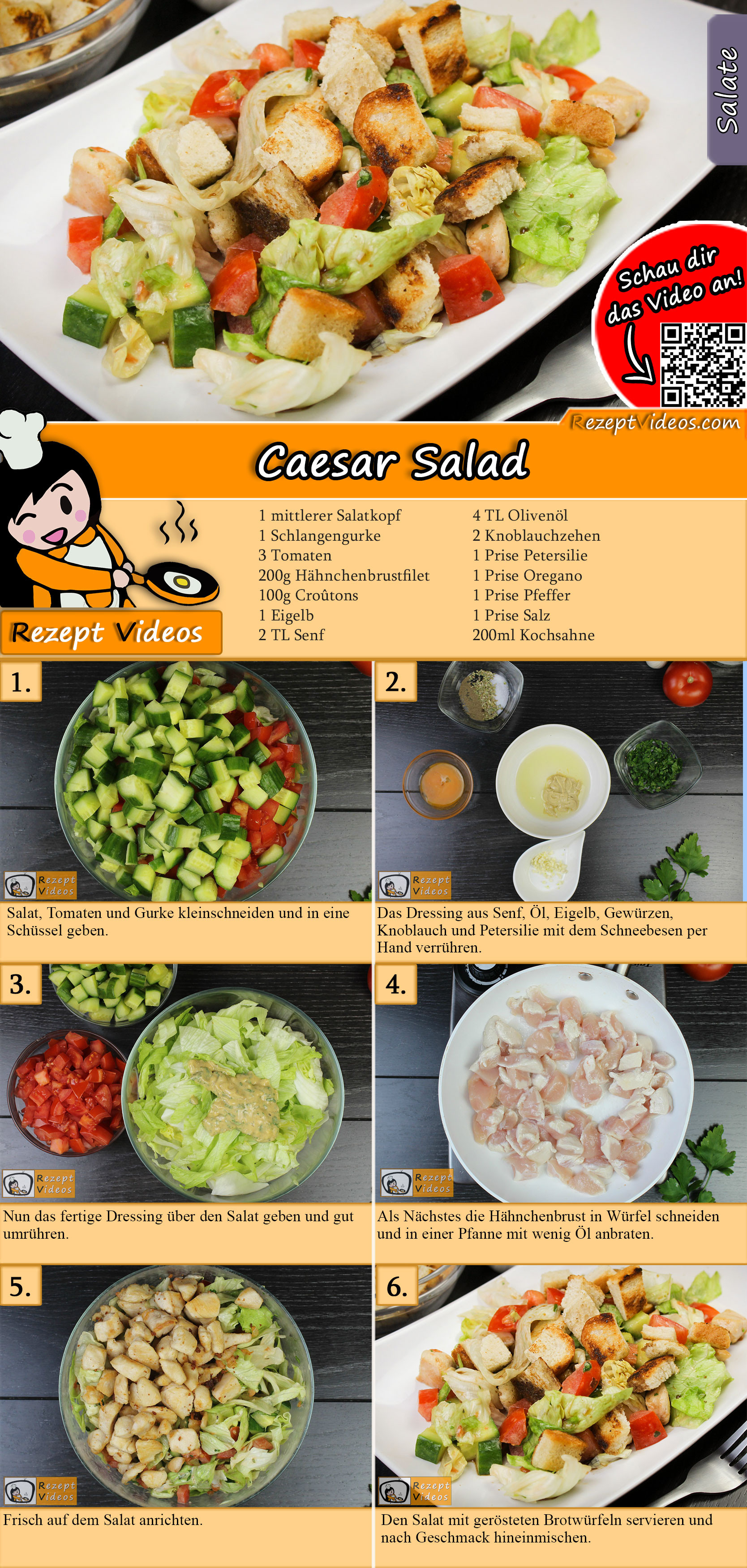 Caesar Salad Rezept mit Video