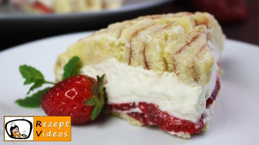 Erdbeer-Frischkäse-Charlotte - Rezept Videos