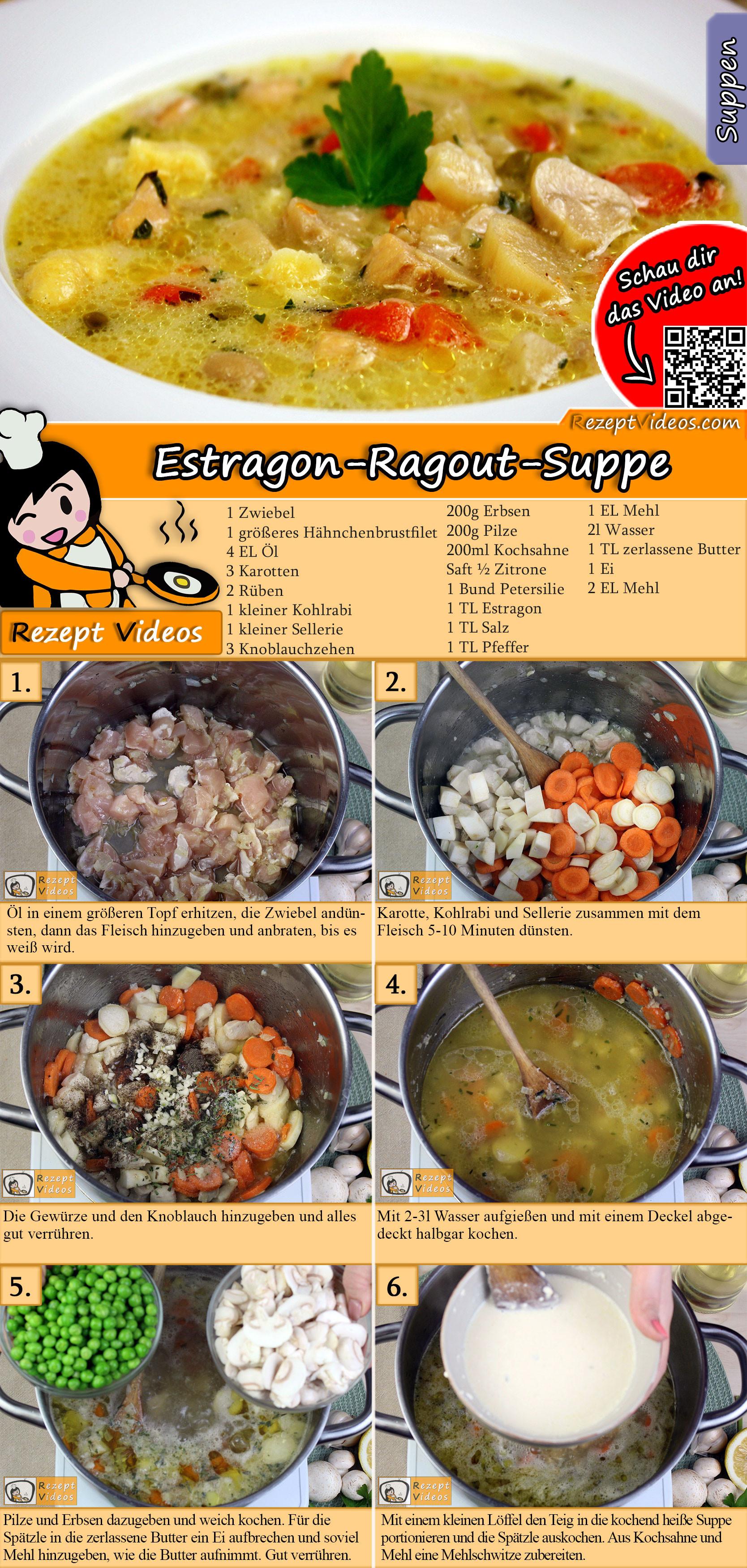 Estragon-Ragout-Suppe Rezept mit Video