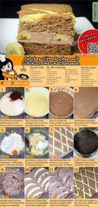 Falscher Gitterkuchen mit Schokocreme und Bananen Rezept mit Video