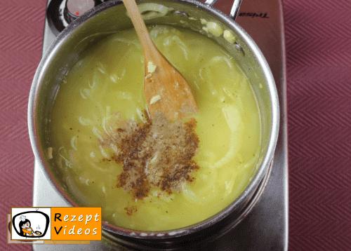 Französische Zwiebelsuppe Rezept- Zubereitung Schritt 5