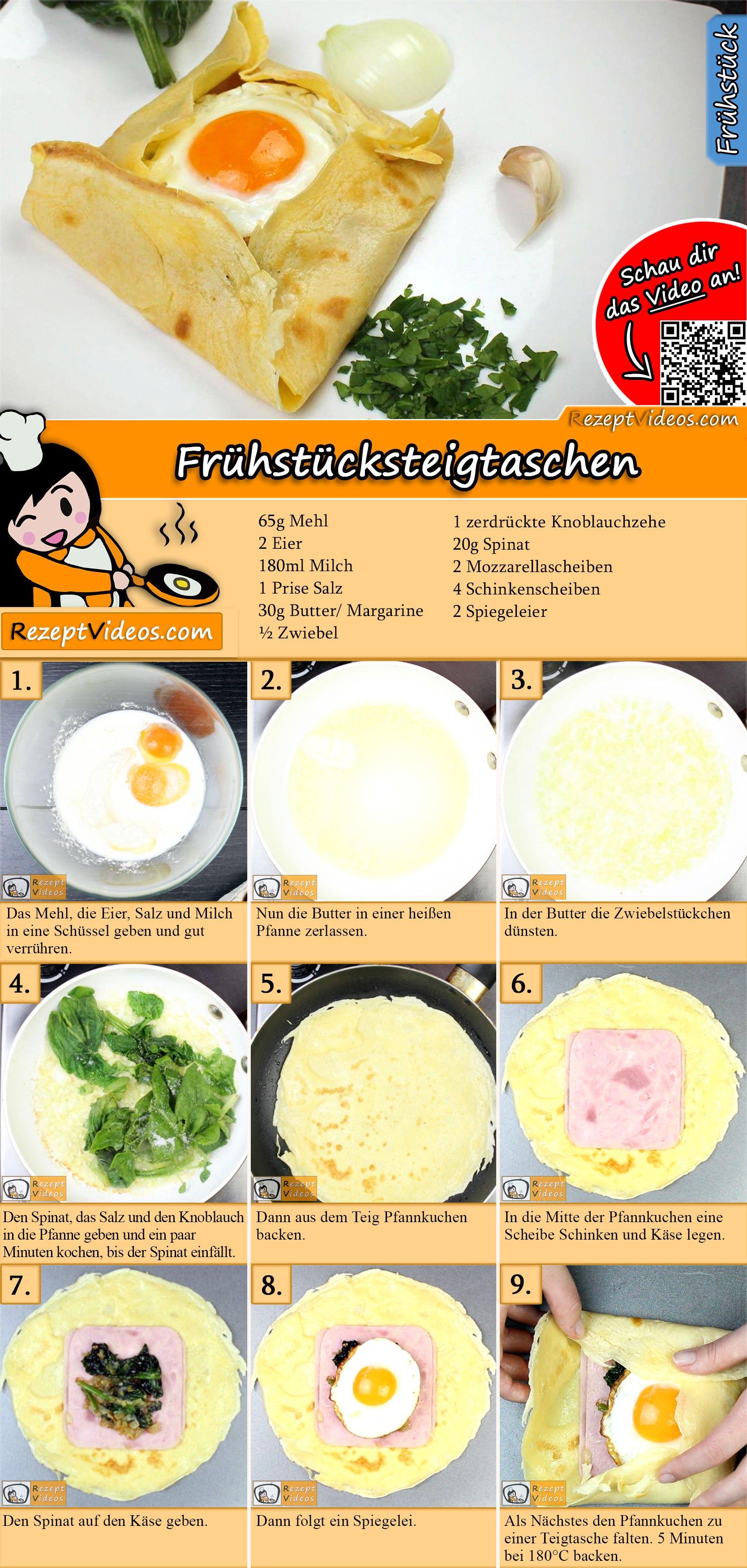 Frühstücksteigtaschen Rezept mit Video