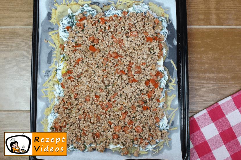 Gefüllte Kartoffelrolle im Käsemantel Rezept Zubereitung Schritt 10