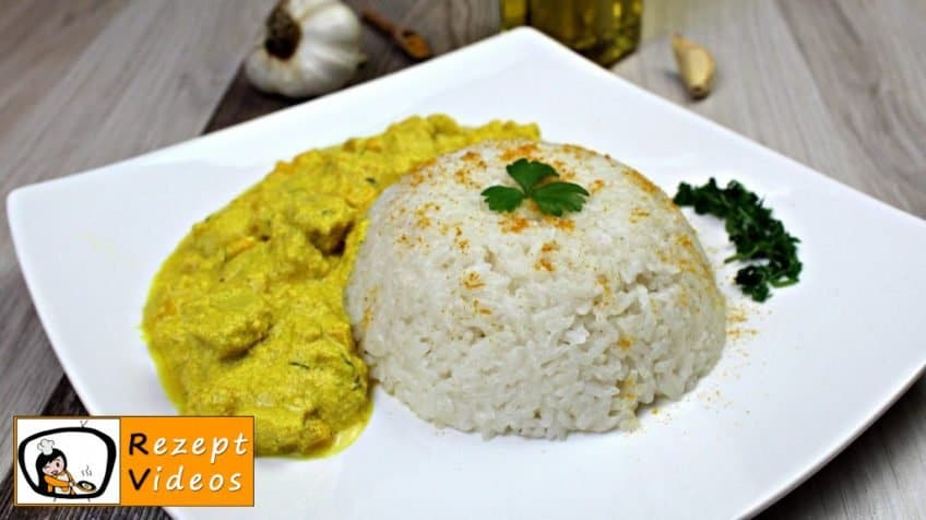 Hähnchenbrust in Sauerrahm-Curry-Sauce - Rezept Videos
