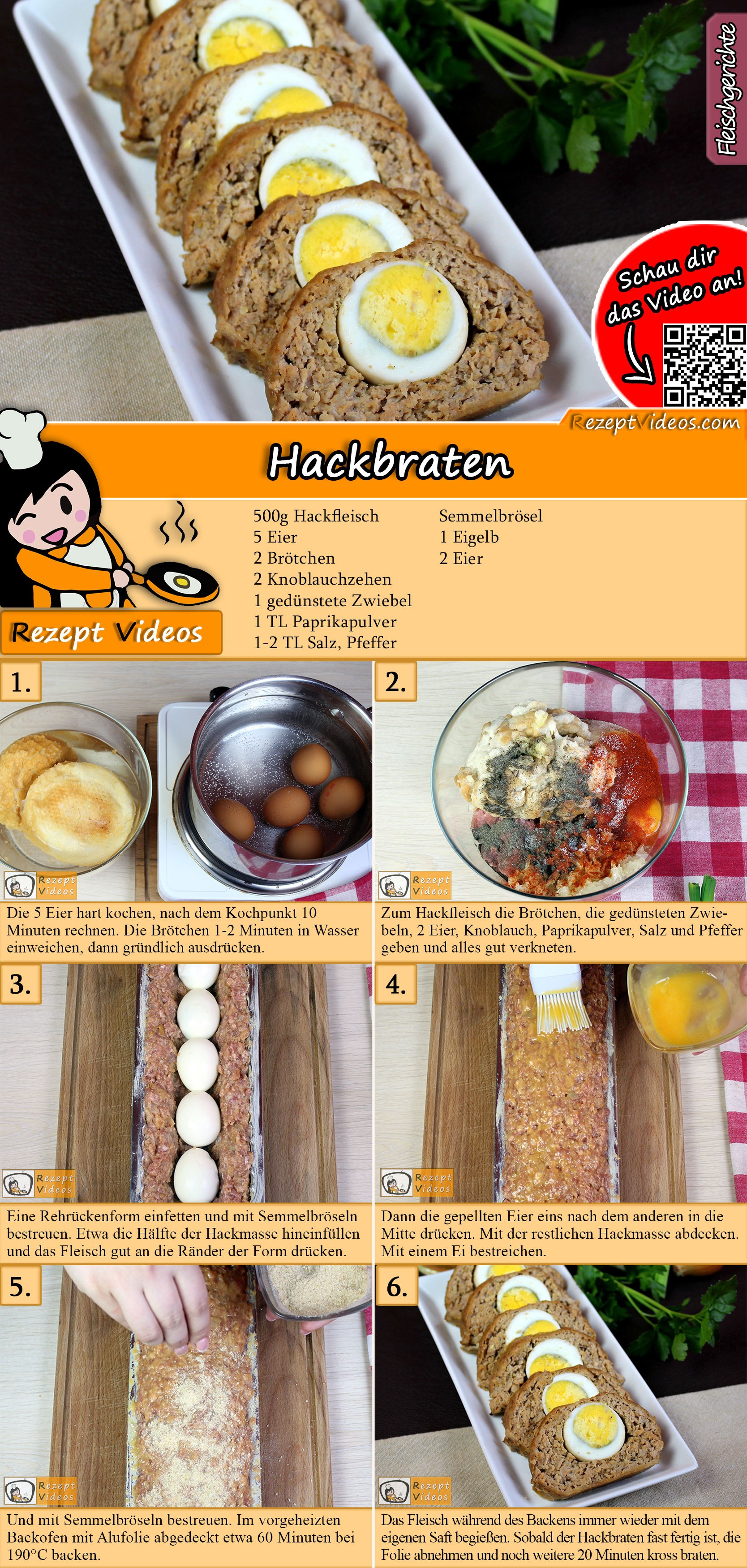 Hackbraten Rezept mit Video