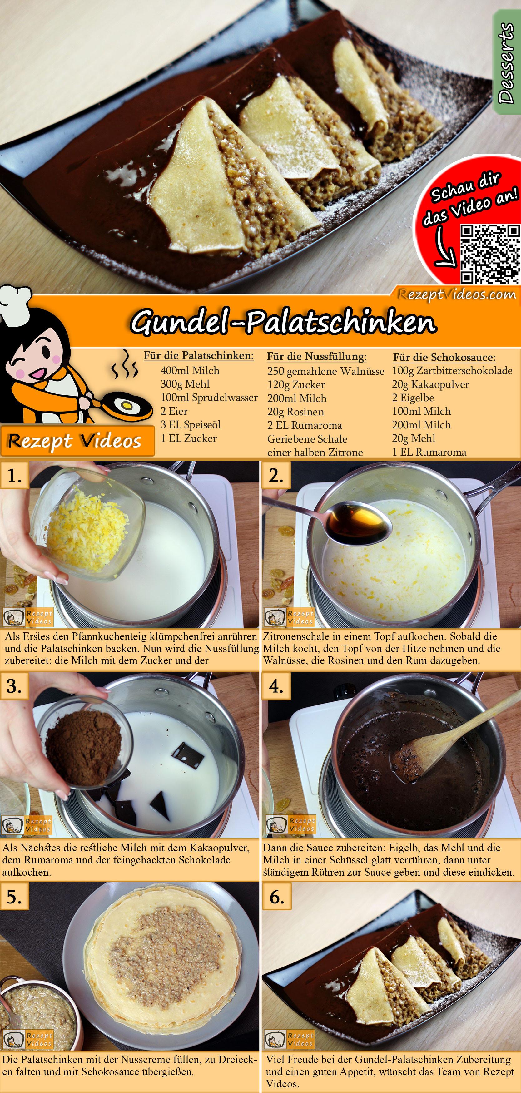 Hausgemachte Gundel-Palatschinken Rezept mit Video
