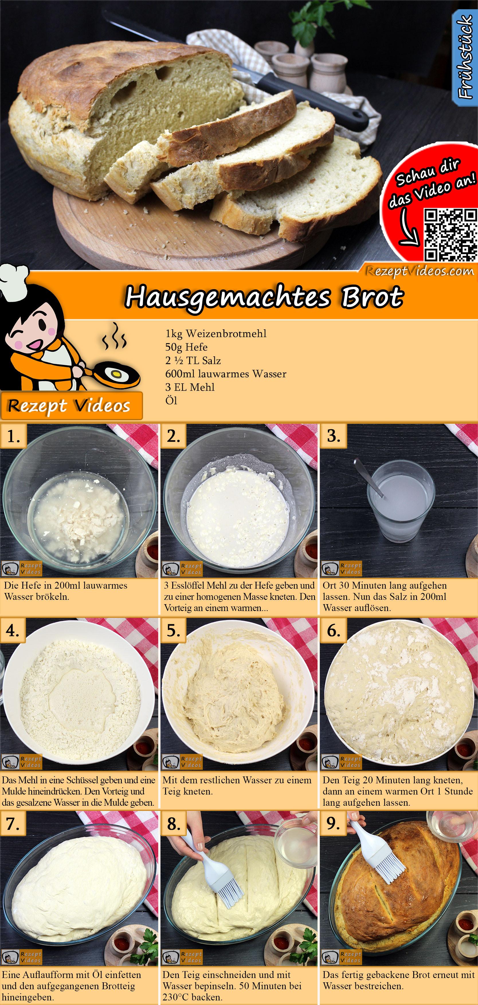 Hausgemachtes Brot Rezept mit Video