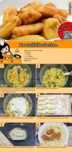 Kartoffelkroketten Rezept mit Video