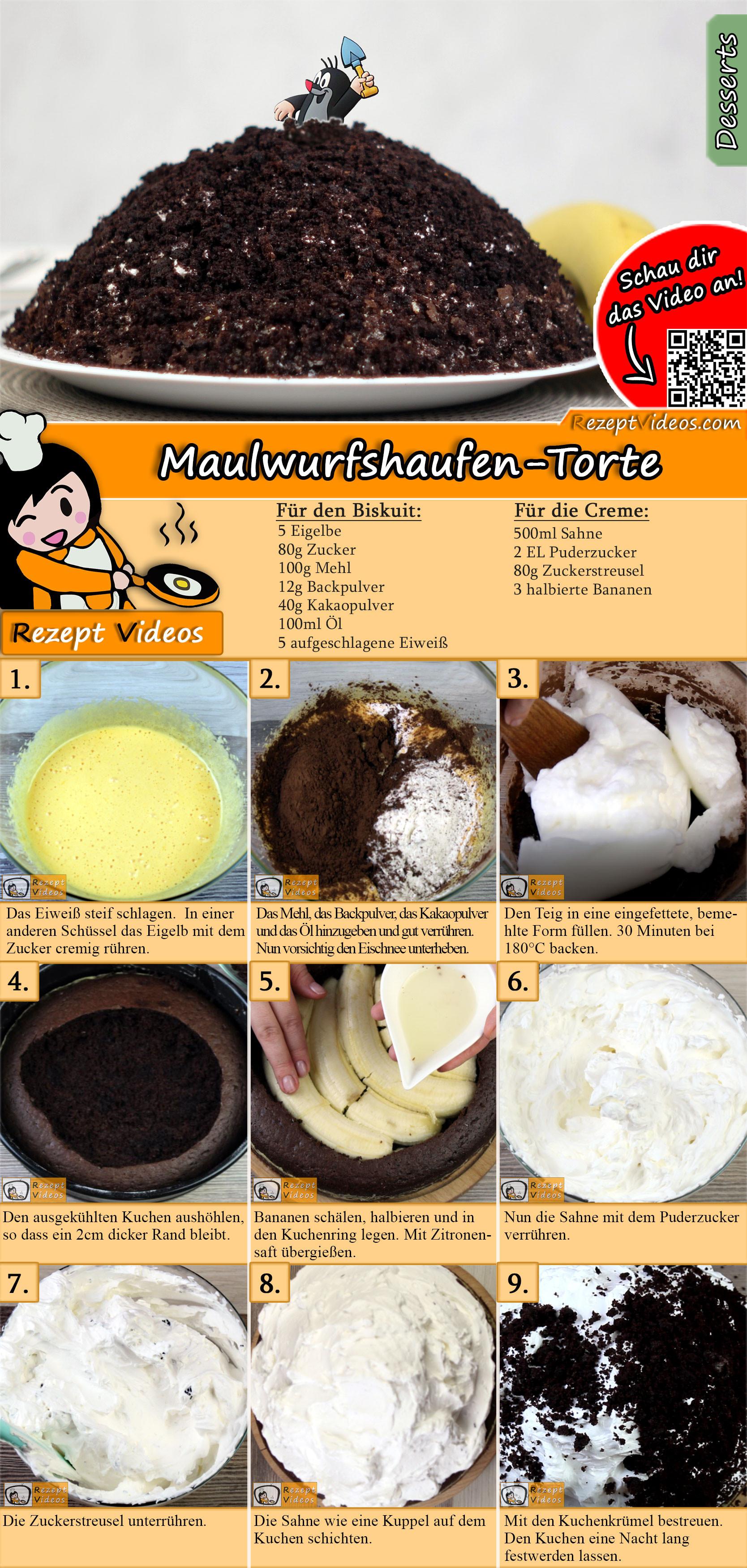 Maulwurfshaufen-Torte Rezept mit Video