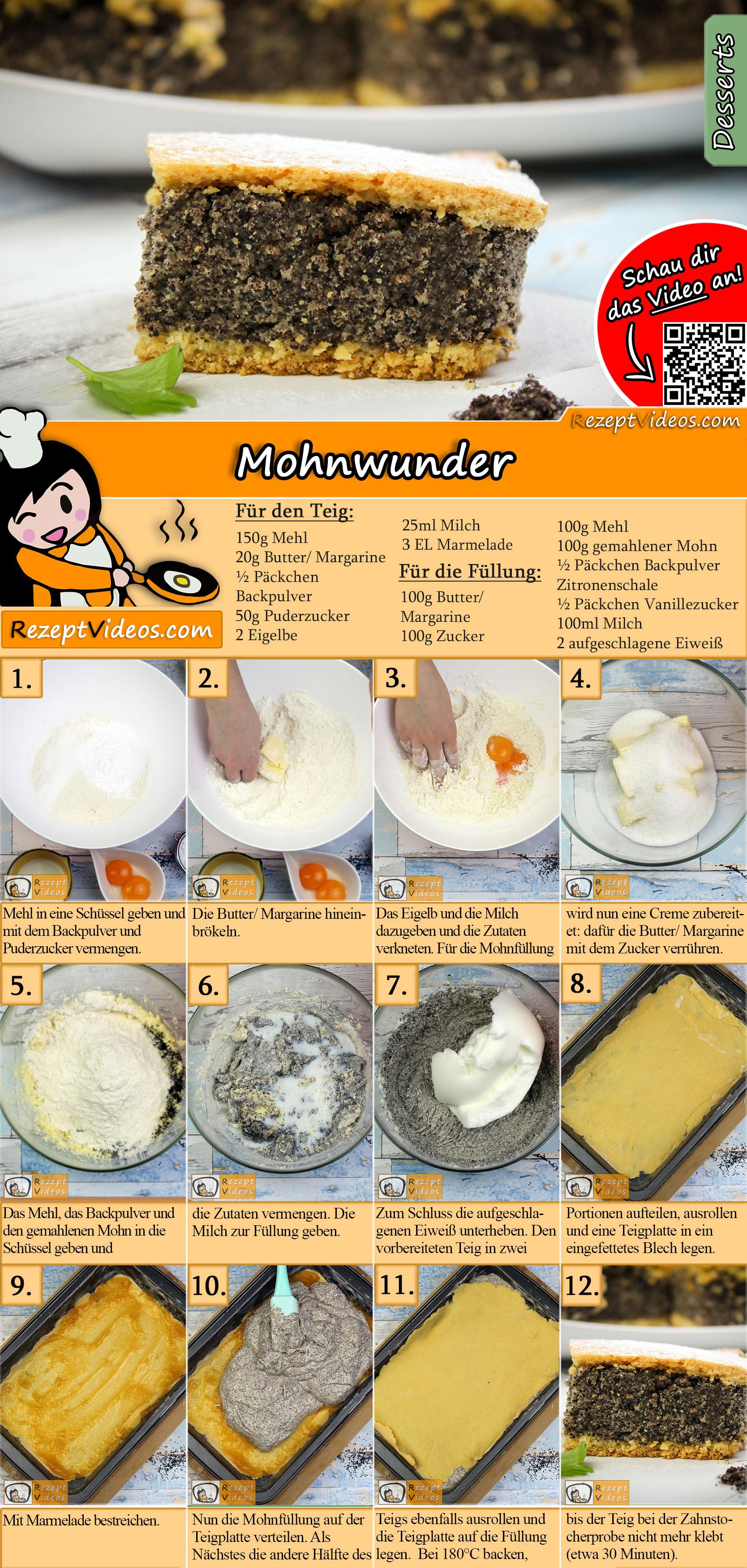Mohnwunder Rezept mit Video