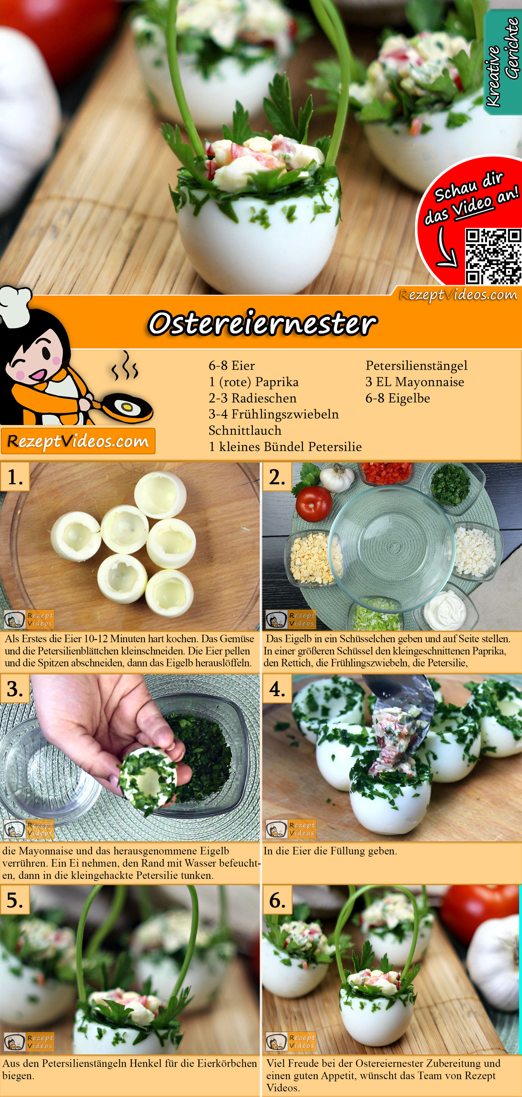 Ostereiernester Rezept mit Video
