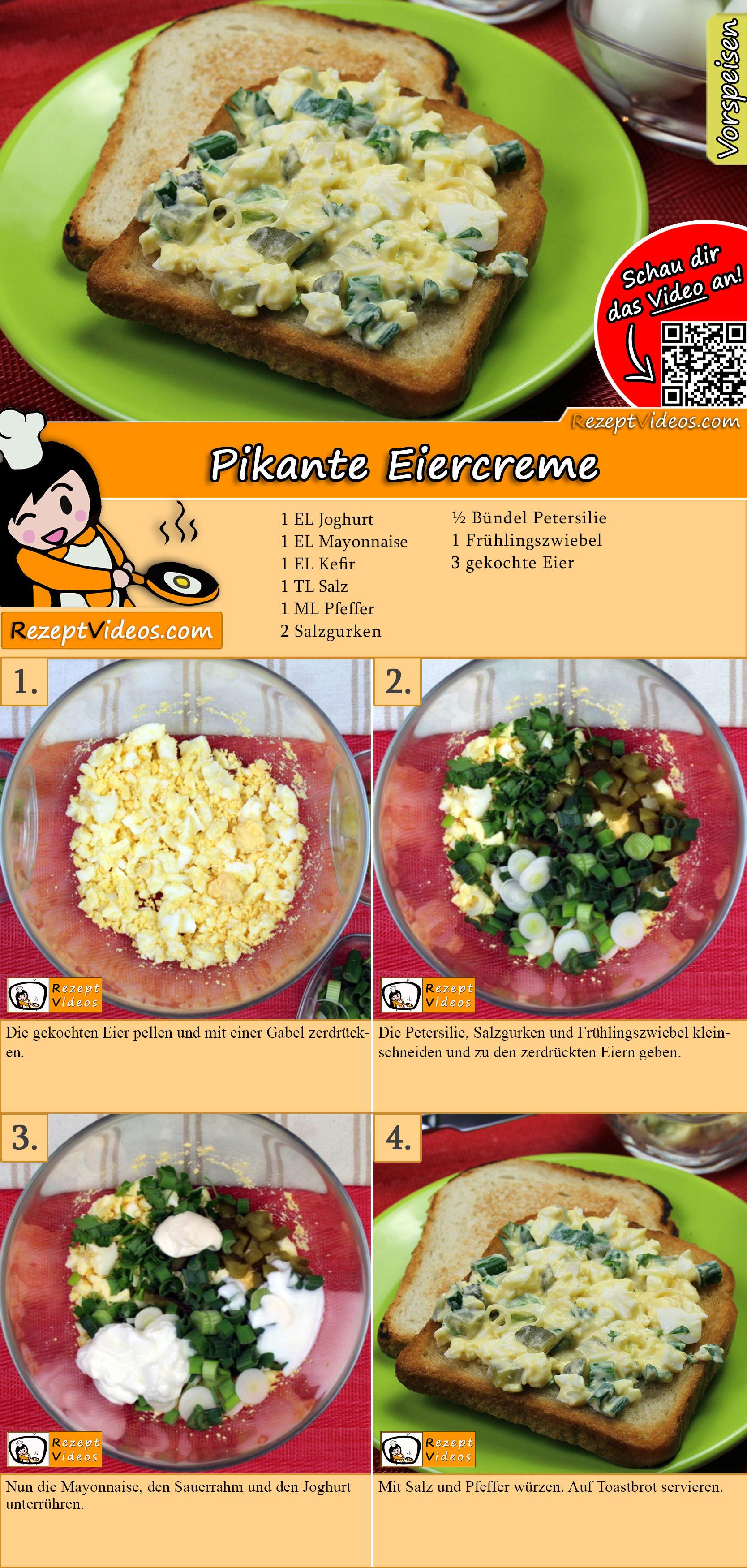 Pikante Eiercreme Rezept mit Video
