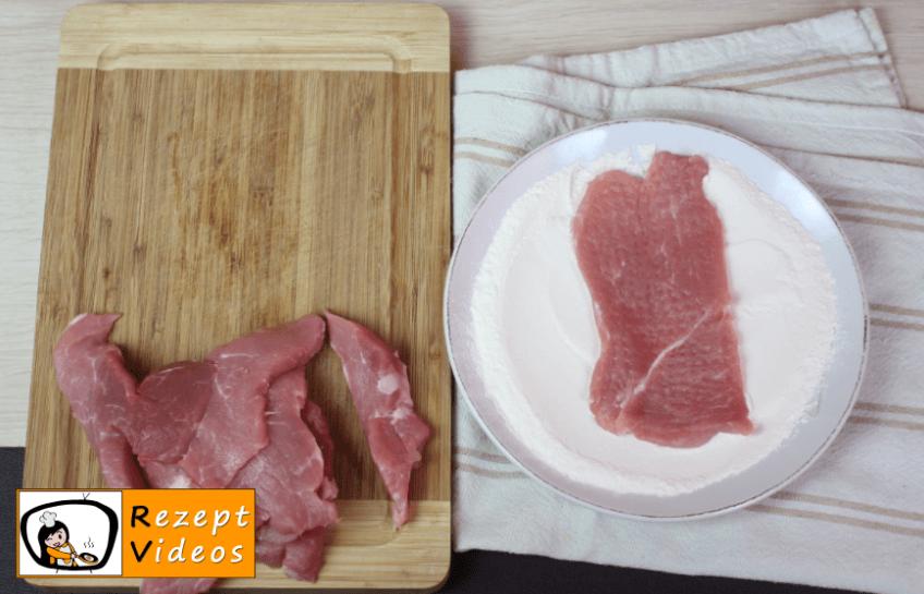 Schweineschnitzel auf Bakonyi Art Rezept Zubereitung Schritt 1