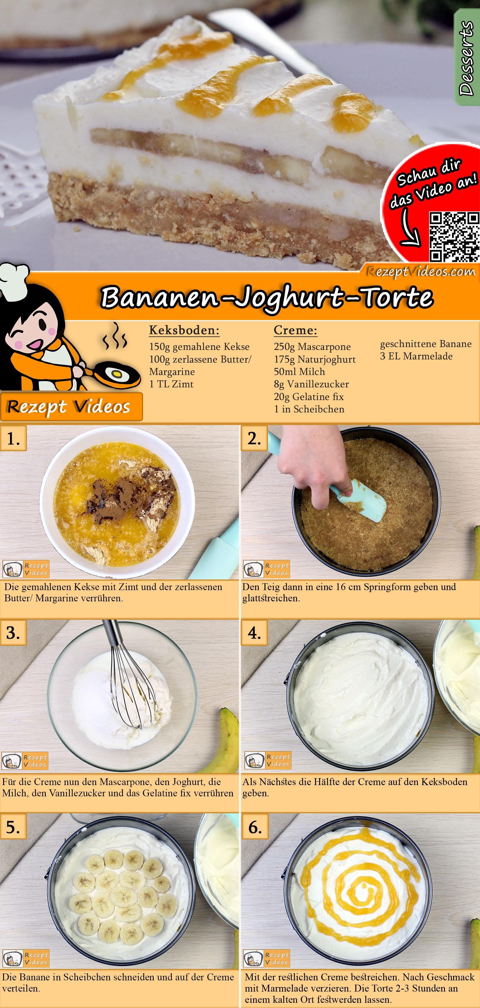 Bananen-Joghurt-Torte Rezept mit Video