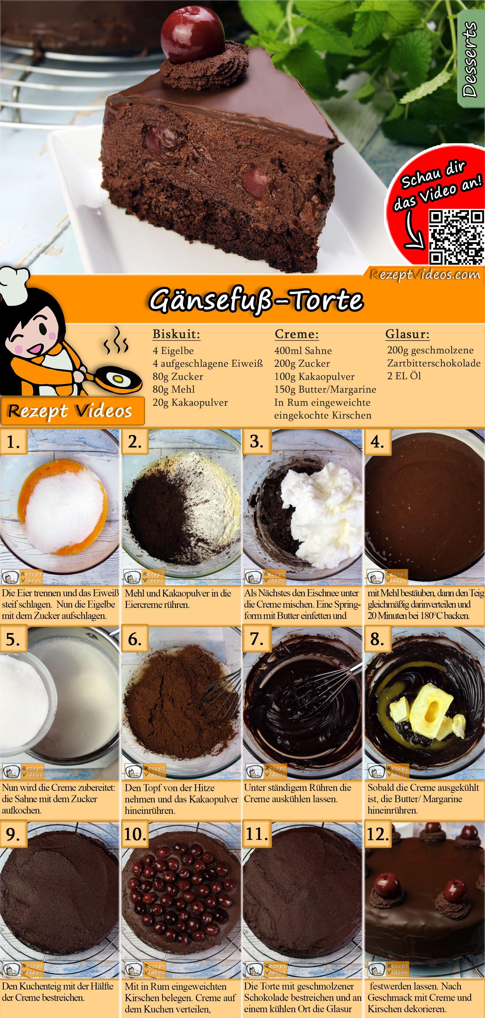 Gänsefuß-Torte Rezept mit Video