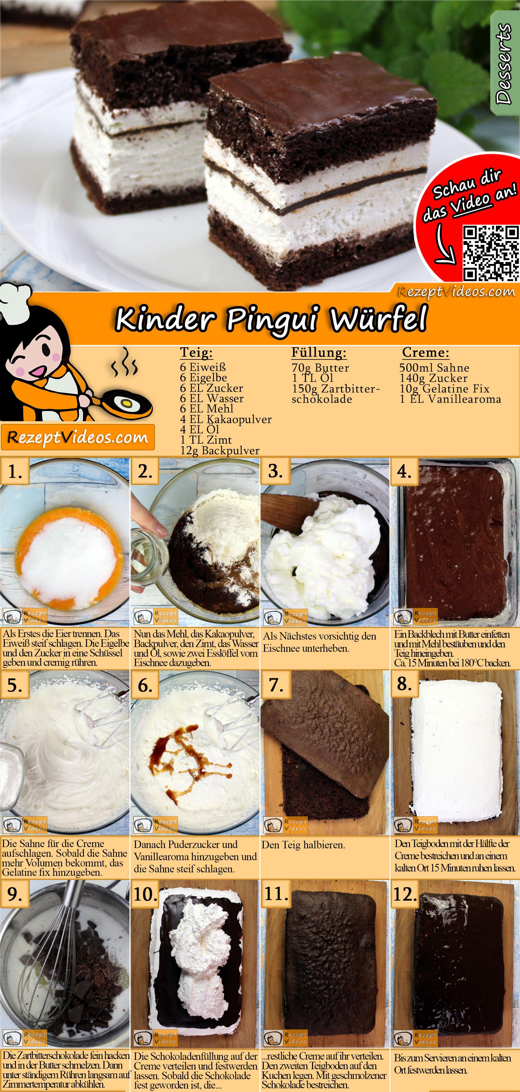Kinder Pingui Würfel Rezept mit Video