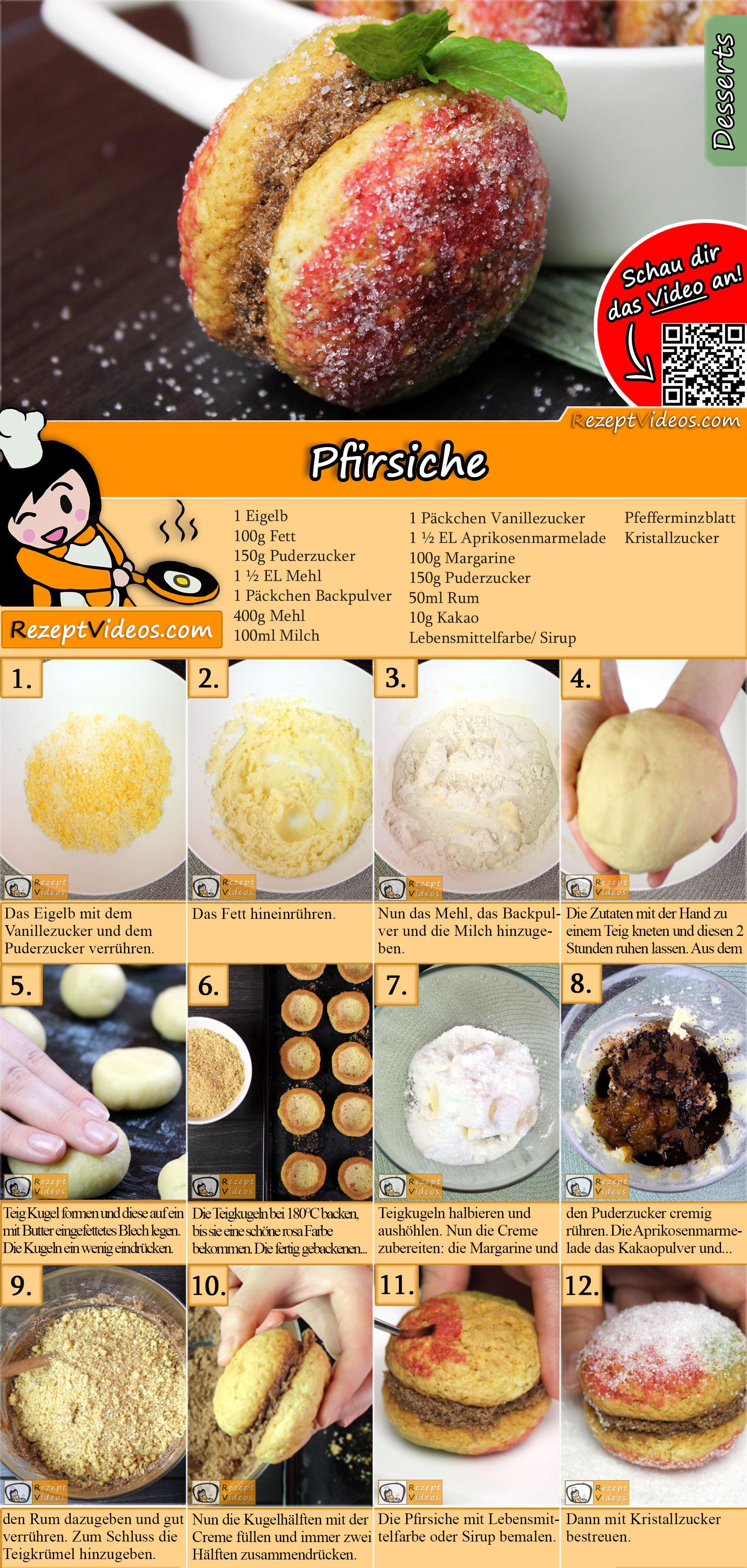 Pfirsiche Rezept mit Video