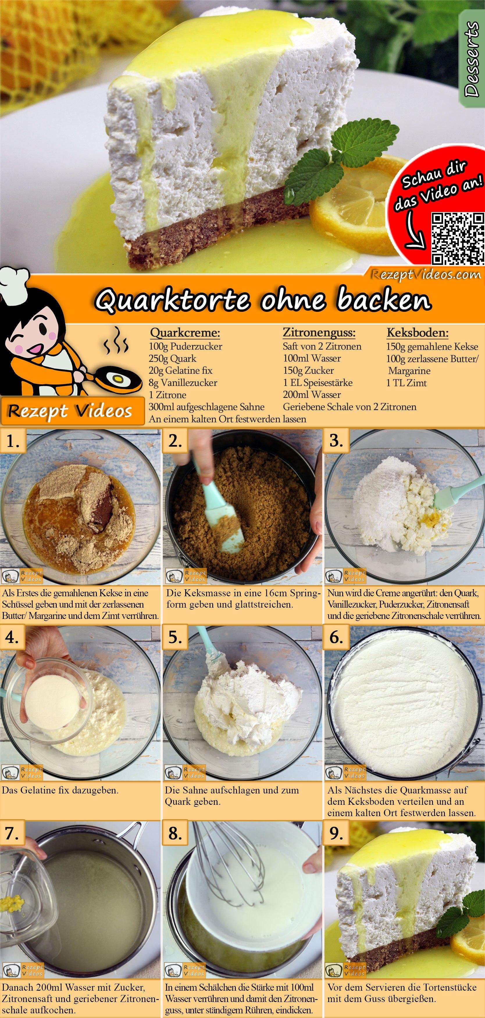 Quarktorte Ohne Backen Rezept Mit Video Torten Und Kuchen Rezepte