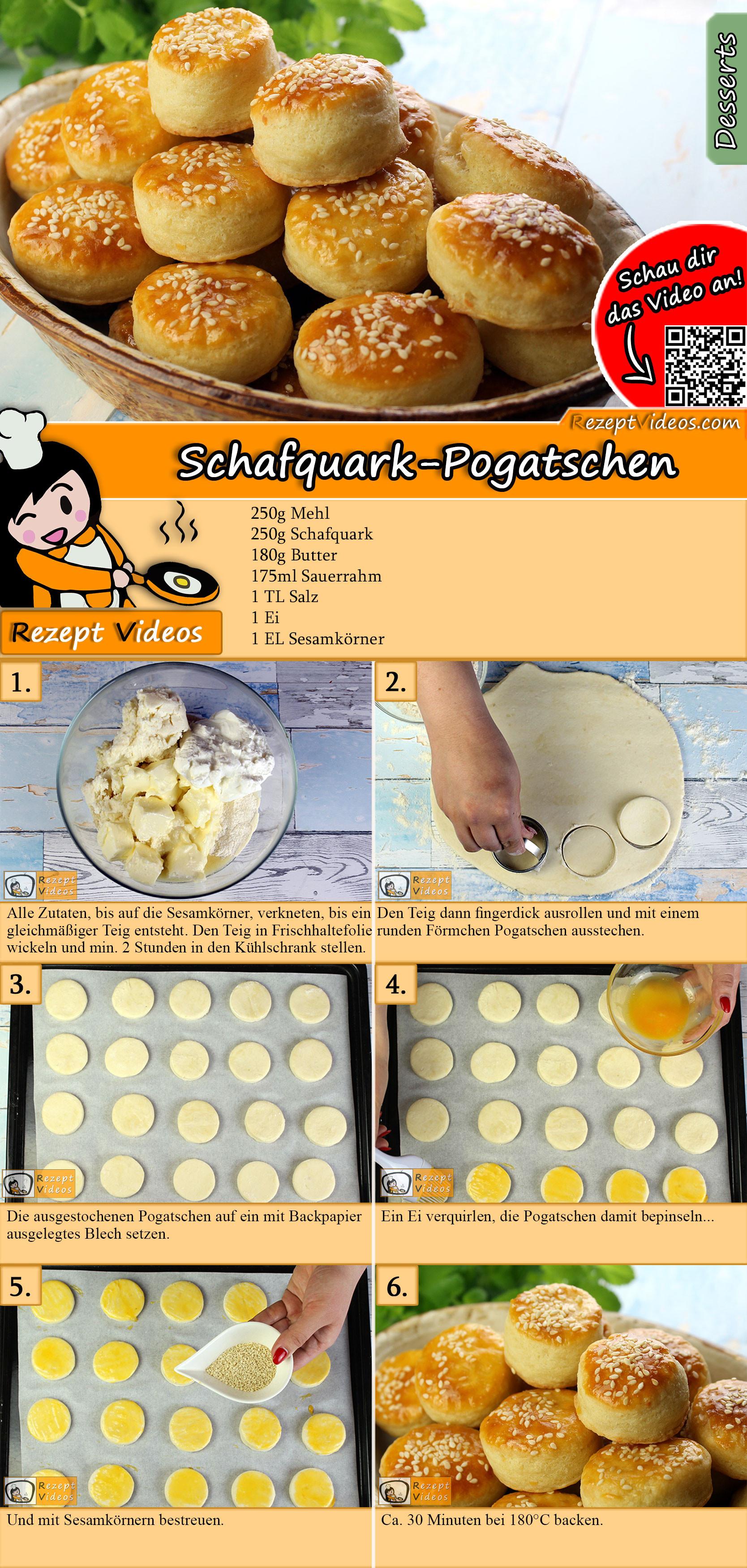 Schafquark-Pogatschen Rezept mit Video