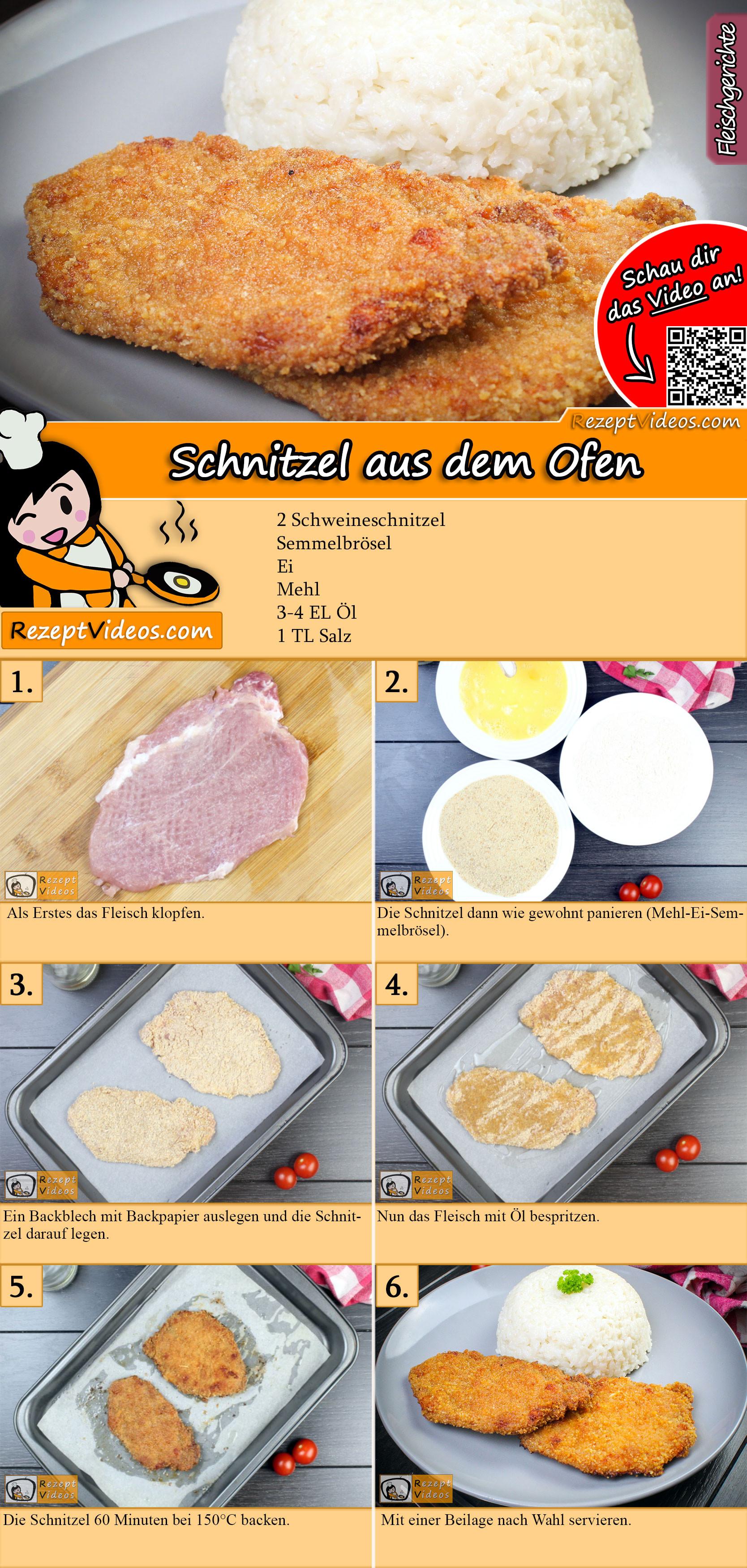 Schnitzel aus dem Ofen Rezept mit Video