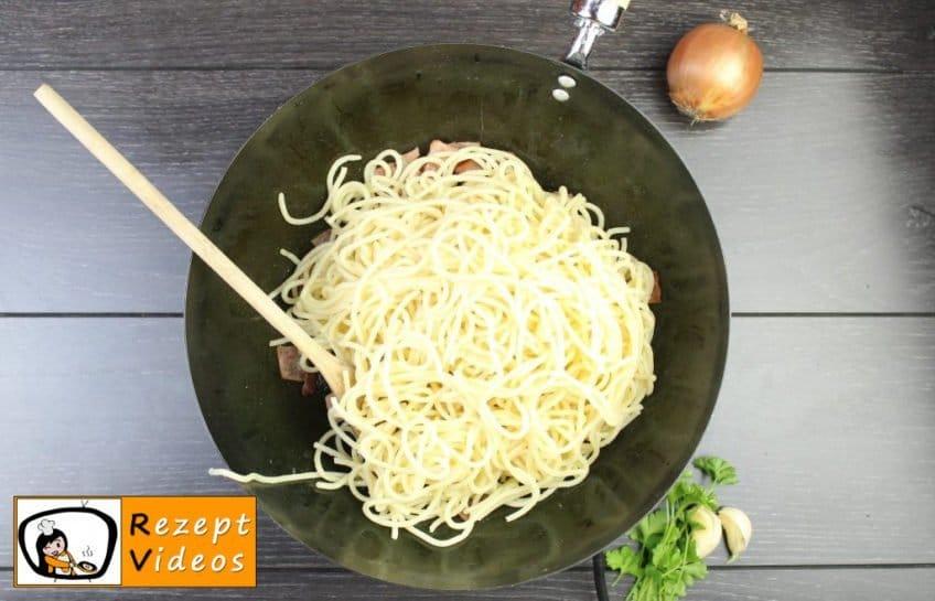 Spaghetti Carbonara Rezept - Pasta Rezepte - Zubereitung Schritt 5