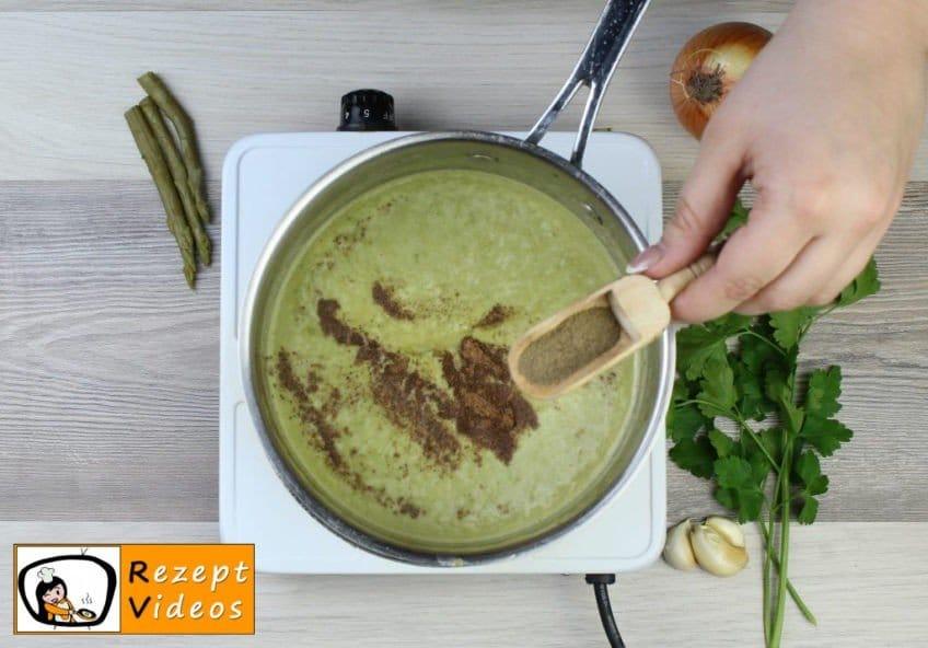 Spargelcremesuppe - Rezept Zubereitung Schritt 7