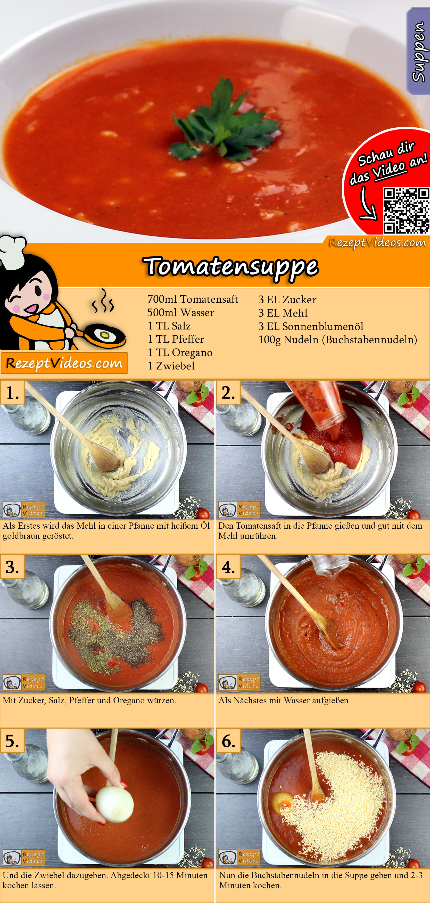 Tomatensuppe Rezept mit Video