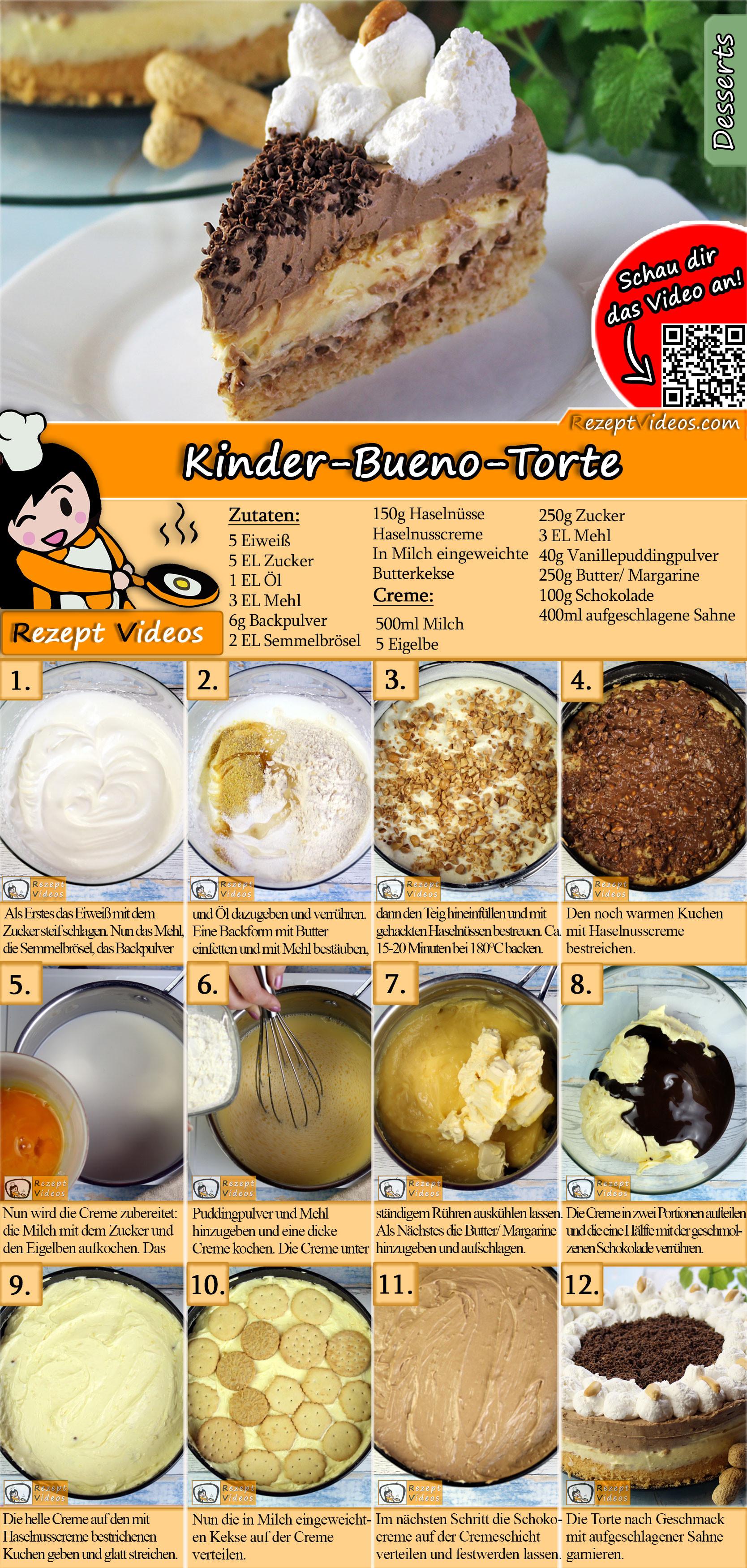 Kinder-Bueno-Torte Rezept mit Video