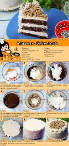 Maronen-Sahnetorte Rezept mit Video