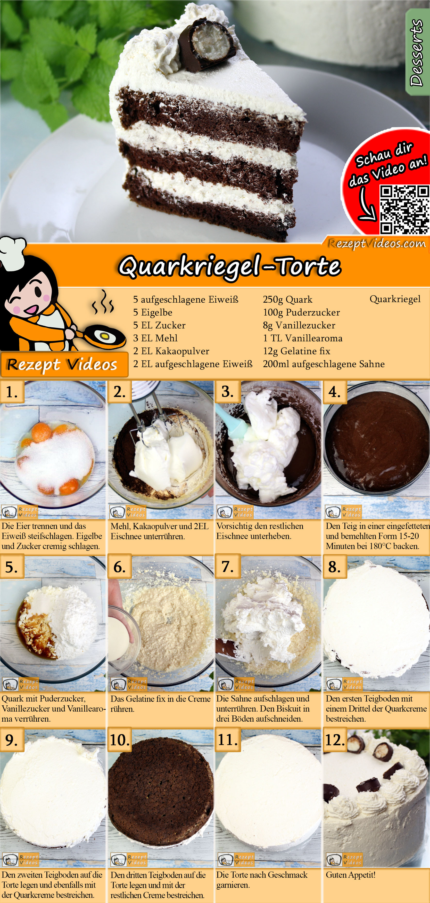 Quarkriegel-Torte Rezept mit Video