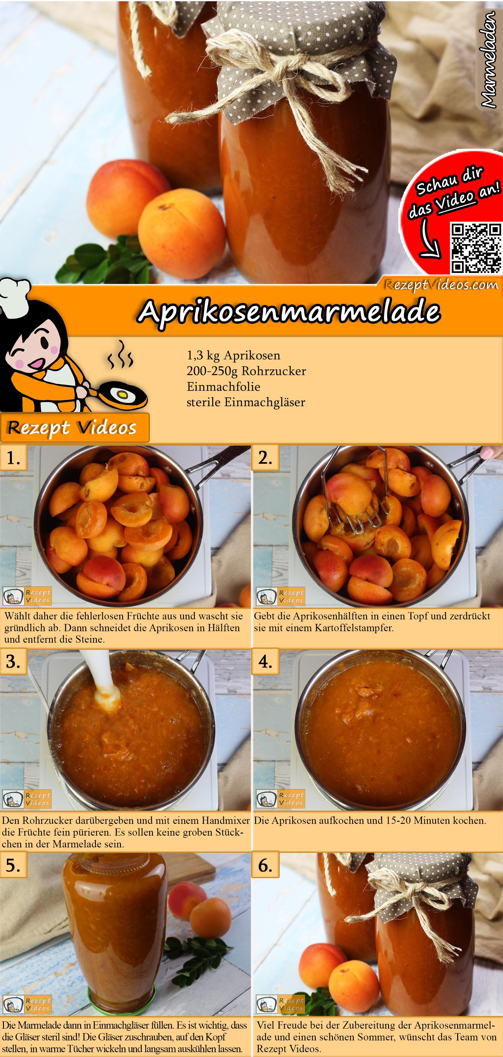 Aprikosenmarmelade Rezept mit Video