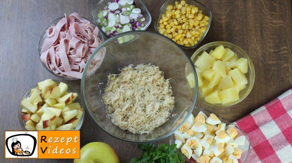 Schichtsalat Rezept - Zubereitung Schritt 2