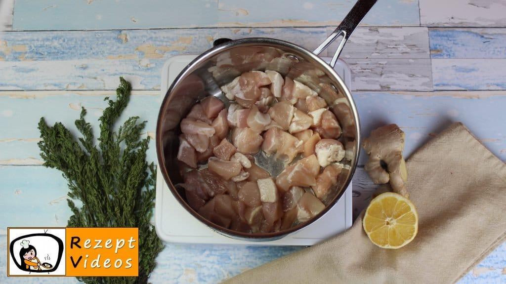 Hähnchencurry mit falschem Reis Rezept - Low Carb Rezept - Zubereitung Schritt 2