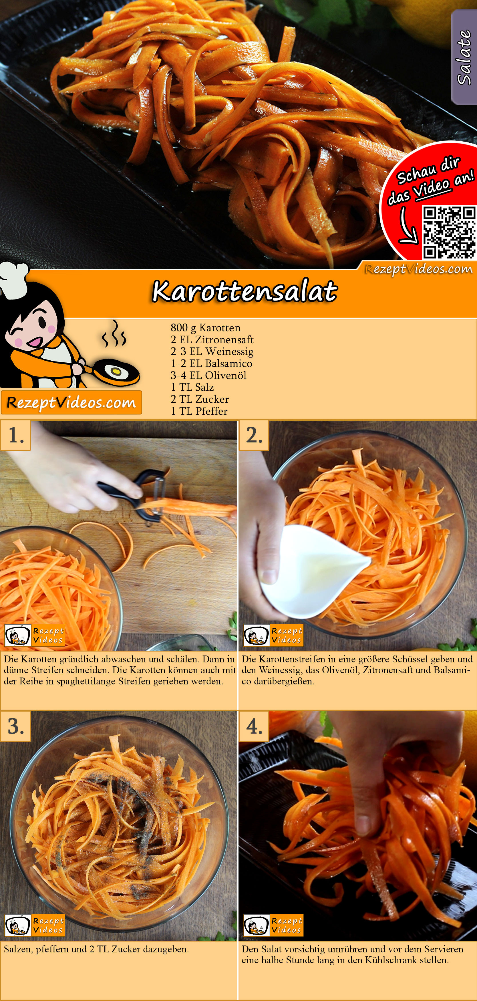 Karottensalat Rezept mit Video