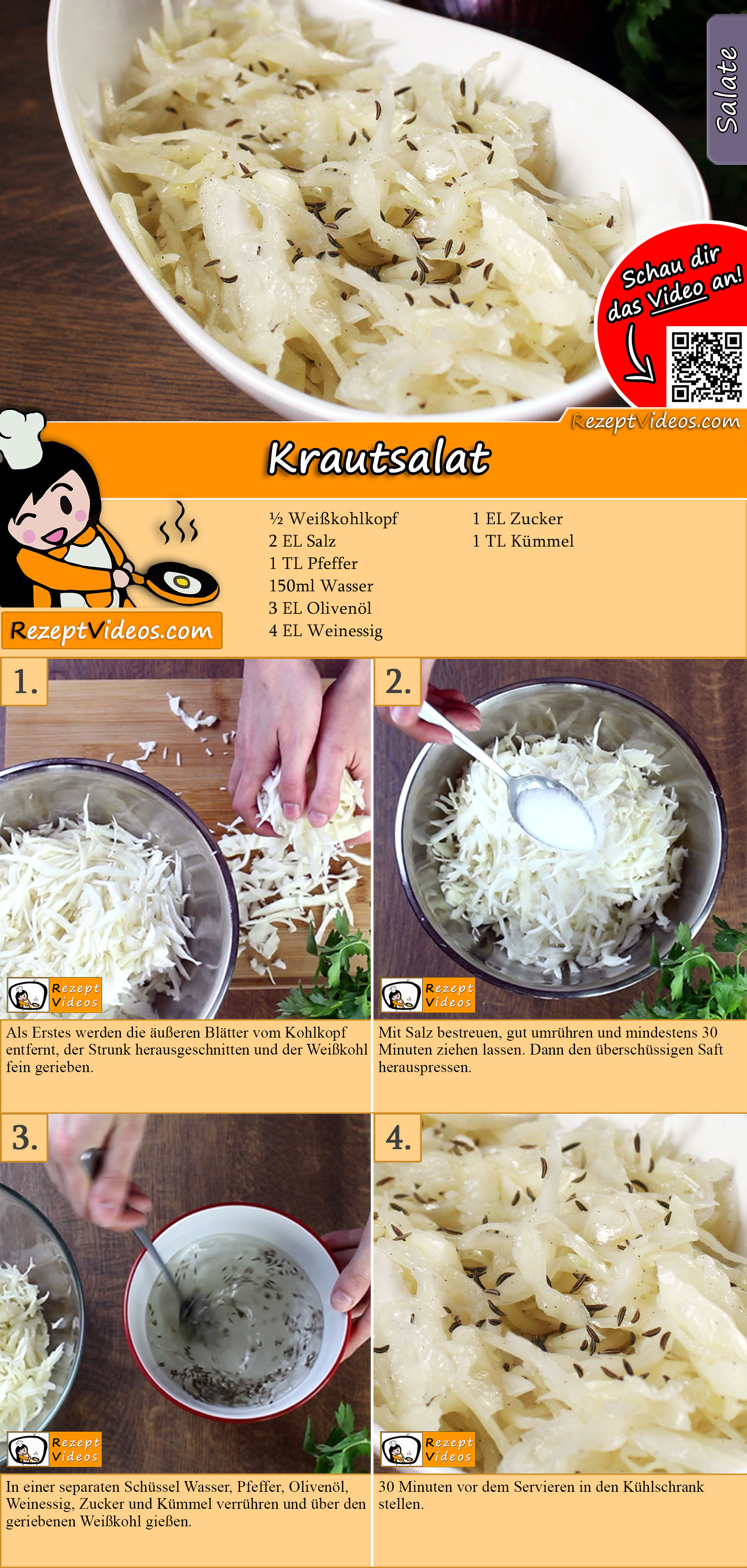Krautsalat Rezept mit Video
