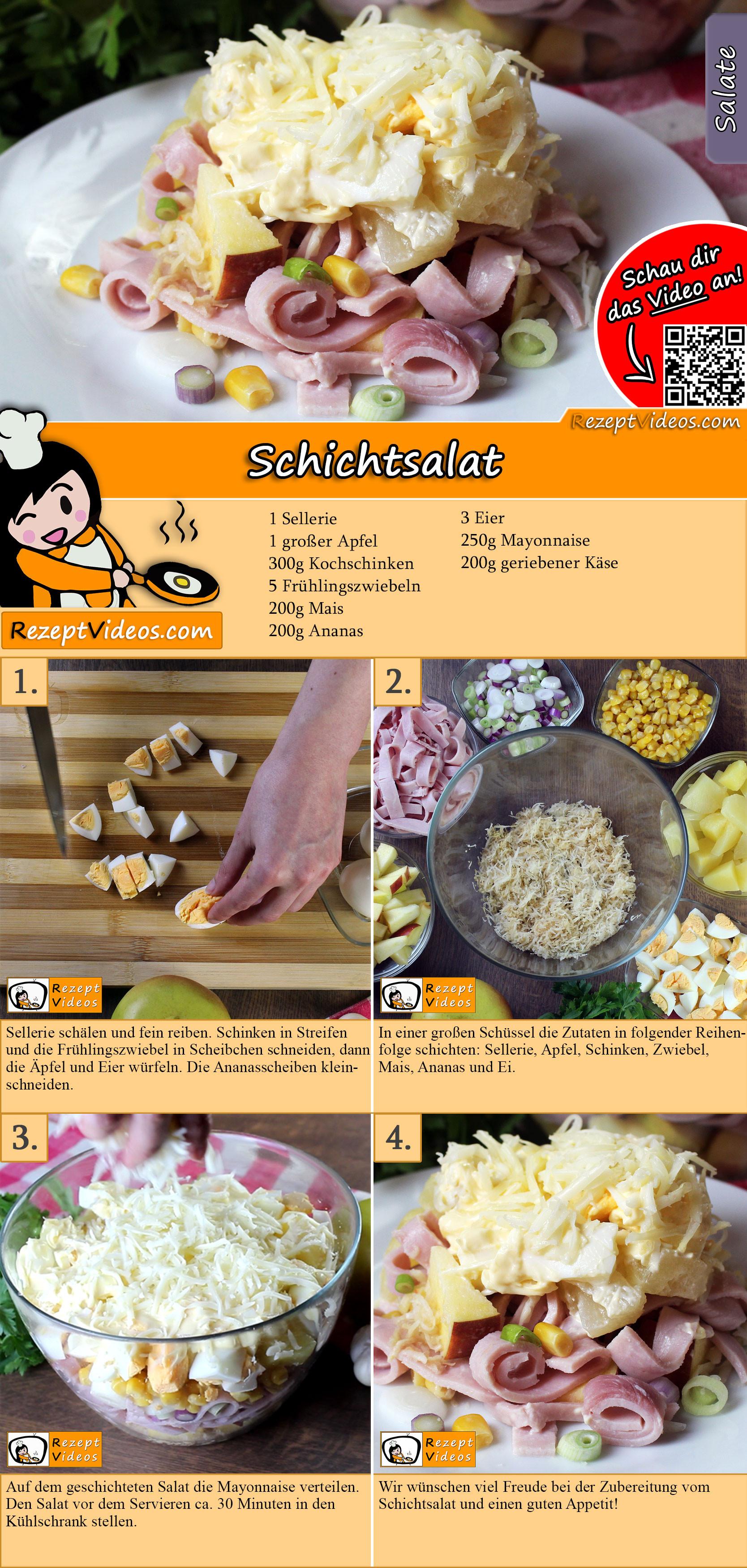 Schichtsalat Rezept mit Video