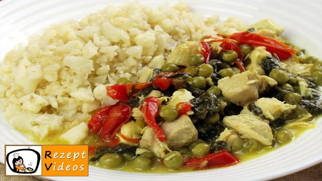 Hähnchencurry mit falschem Reis - Low Carb Rezept - Rezept Videos