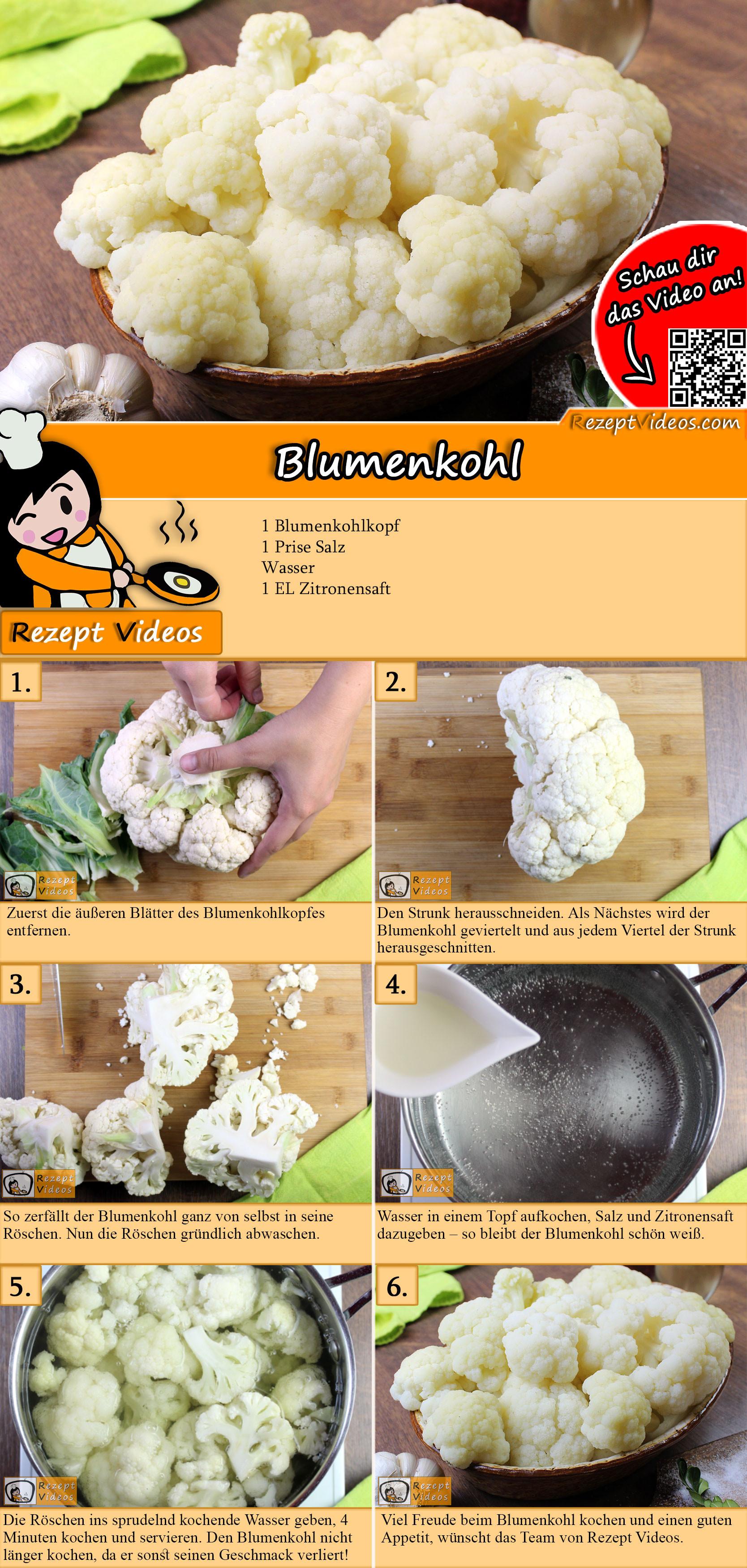 Blumenkohl Rezept mit Video