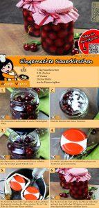 Eingemachte Sauerkirschen Rezept mit Video