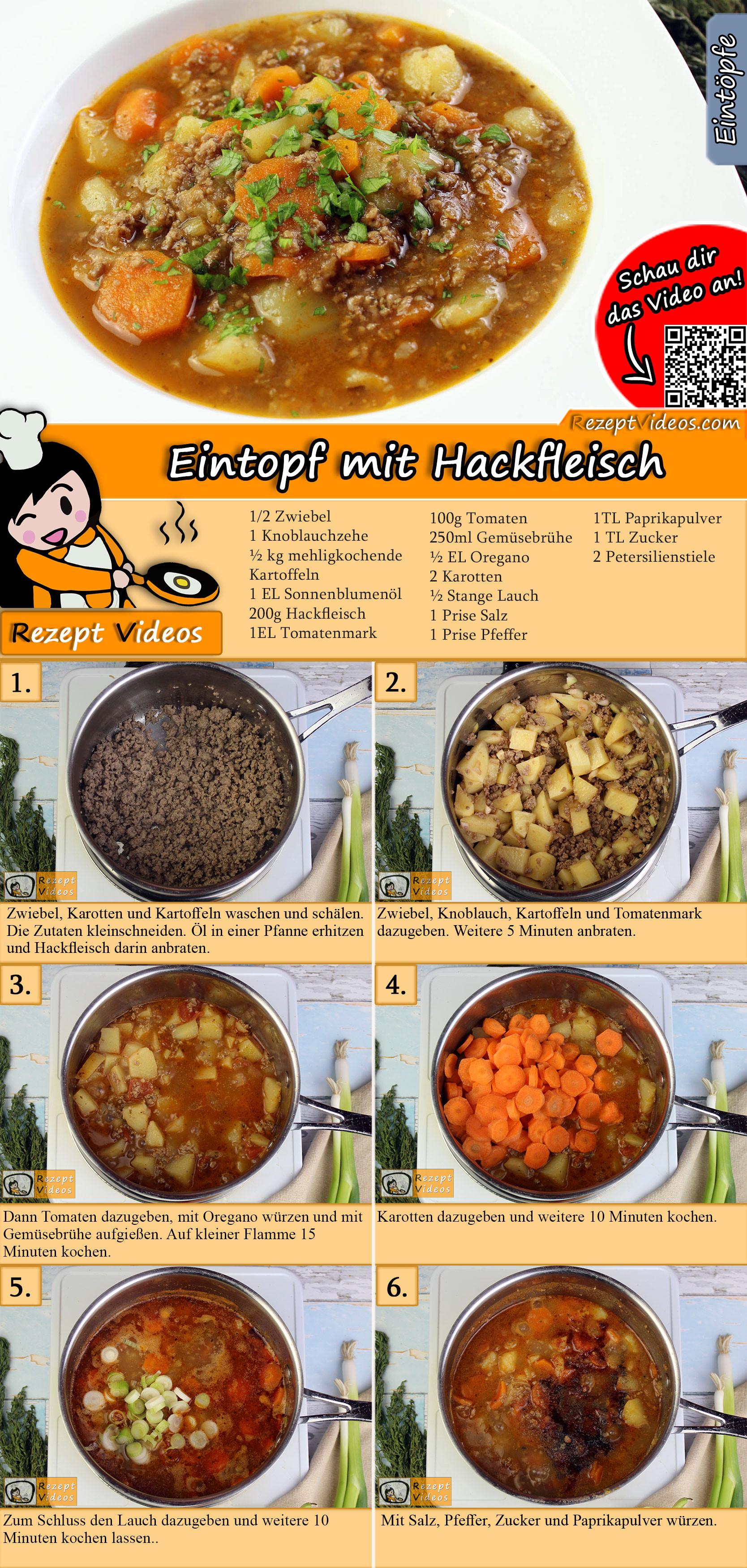 Eintopf mit Hackfleisch Rezept mit Video