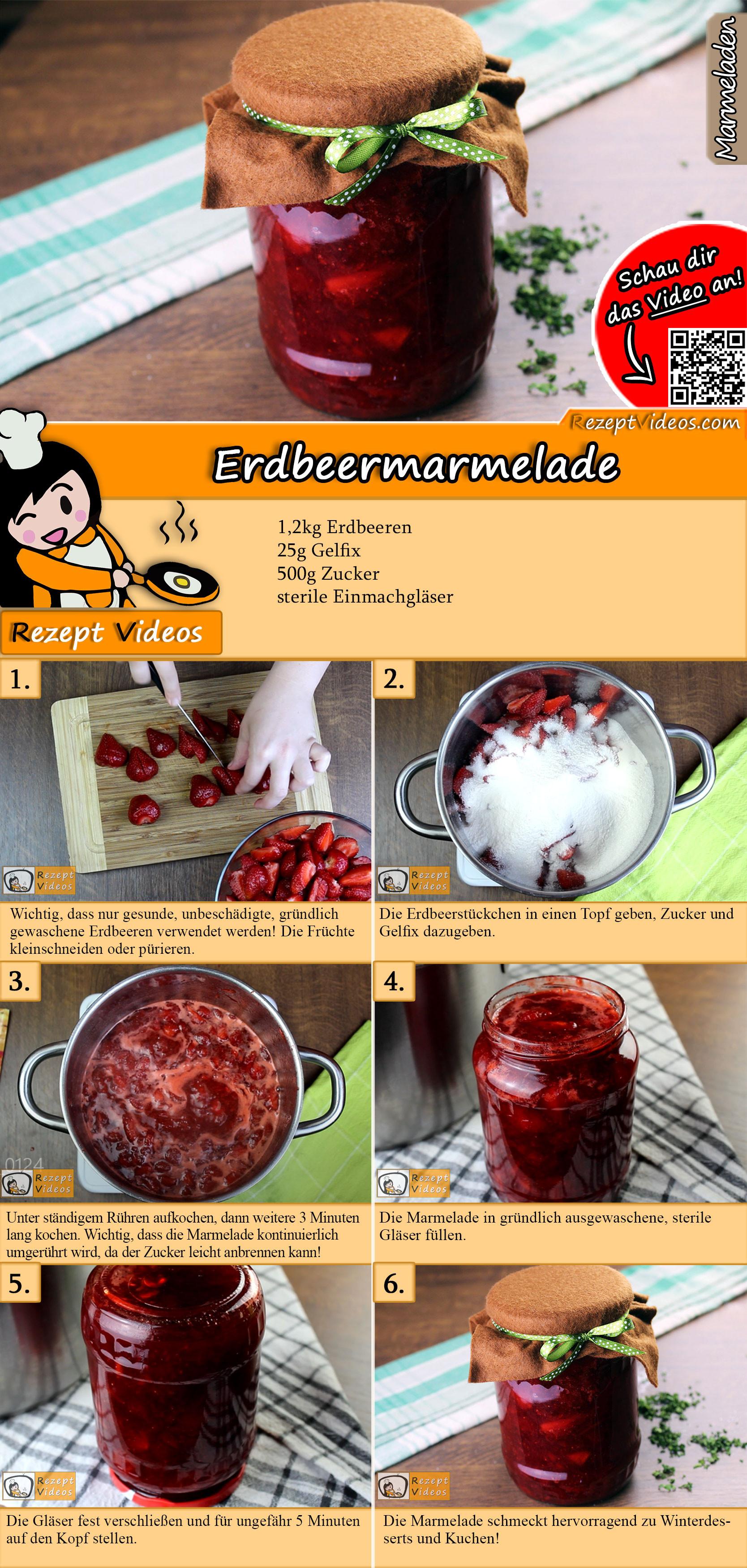 Erdbeermarmelade Rezept mit Video