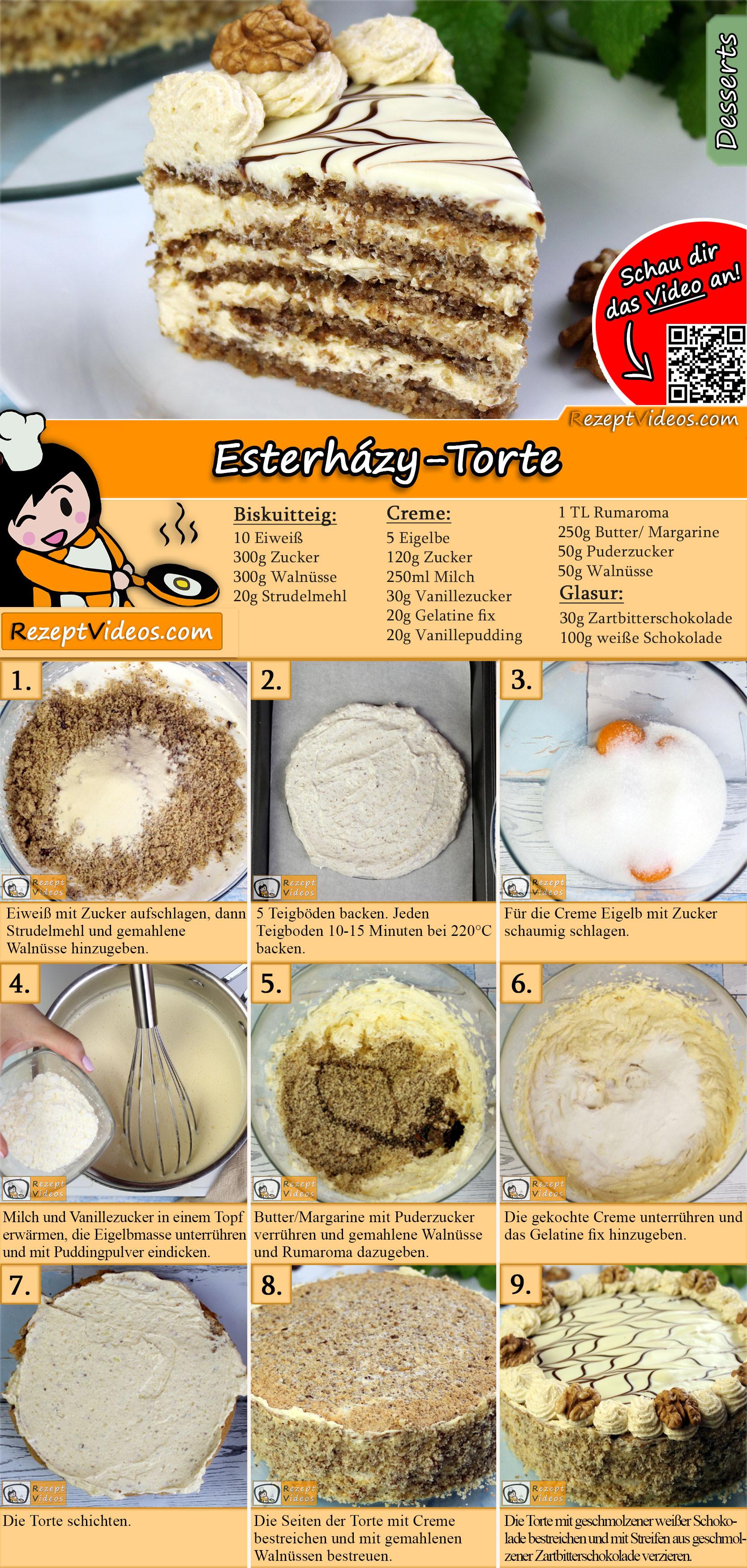 Esterházy-Torte Rezept mit Video